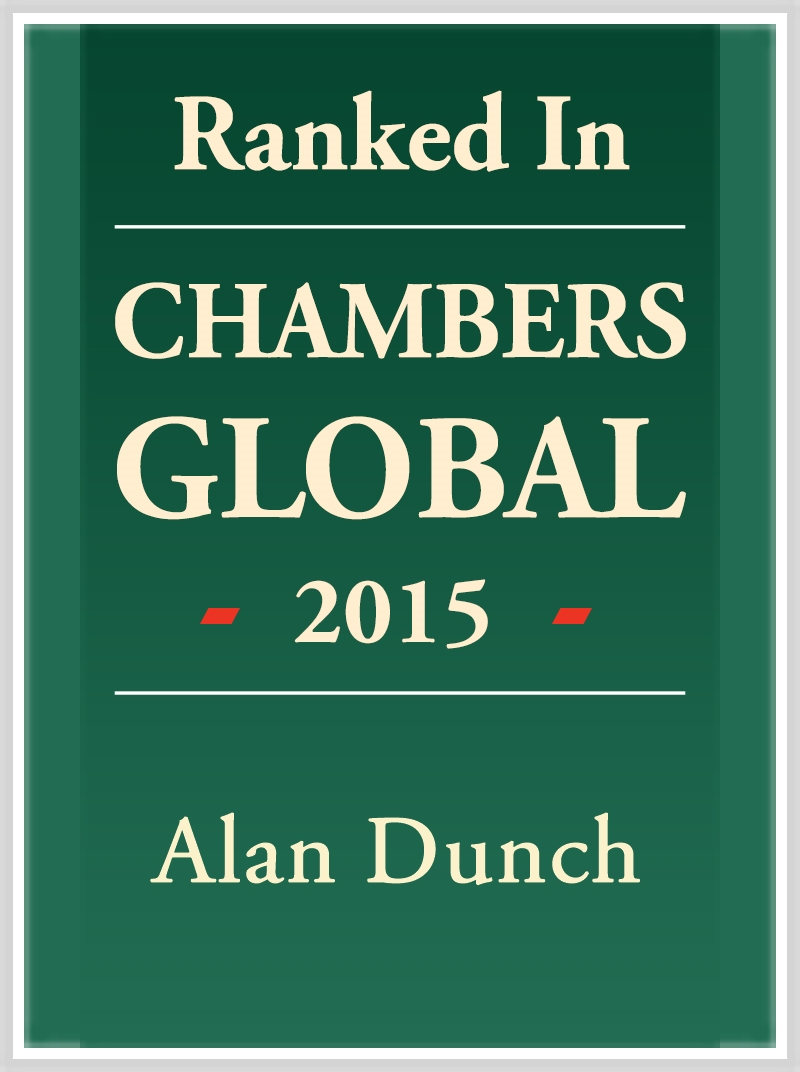 Alan Dunch - Ranked in Chambers Global 2015