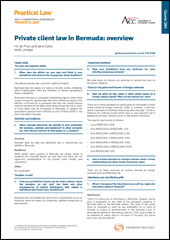 Practical Law Company - Lending and taking security in Bermuda overview 2014