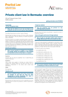 Practical Law Company - Private Client Law in Bermuda: An Overview 2016