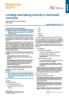 Practical Law Company - Lending and Taking Security in Bermuda 2015/16