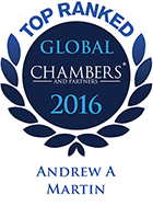 Top Ranked - Chambers Global, 2016 - Andrew Martin