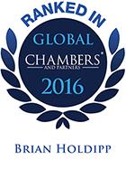 Top Ranked - Chambers Global, 2016 - Brian Holdipp