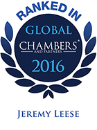Top Ranked - Chambers Global, 2016 - Jeremy Leese