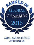 Top Ranked - Chambers Global, 2016