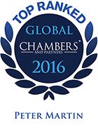 Top Ranked - Chambers Global, 2016 - Peter Martin