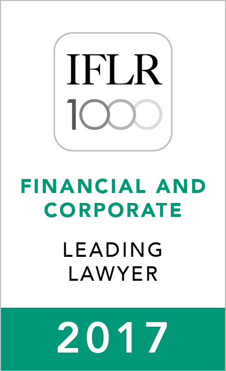 IFLR1000 (2017) Leading Lawyer
