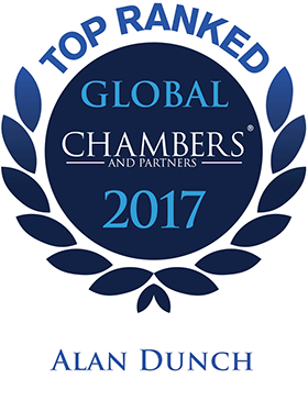 Top Ranked - Chambers Global, 2016 - Alan Dunch