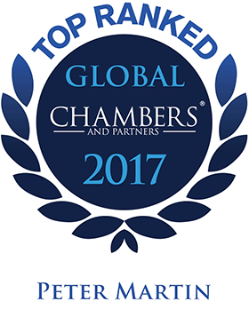 Top Ranked - Chambers Global, 2017 - Peter Martin