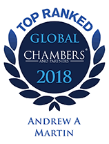 Top Ranked - Chambers Global, 2018 - Andrew Martin