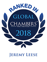Top Ranked - Chambers Global, 2018 - Jeremy Leese