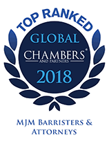 Top Rank Global Chambers and Partners 2018 - MJM Barristers & Attorneys