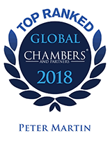 Top Ranked - Chambers Global, 2018 - Peter Martin