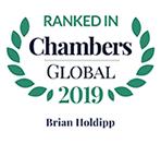 Top Ranked - Chambers Global, 2019 - Brian Holdipp