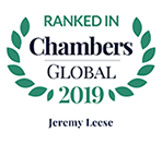 Top Ranked - Chambers Global, 2019 - Jeremy Leese