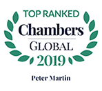 Top Ranked - Chambers Global, 2019 - Peter Martin