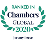 Ranked in Chambers Global, 2020 - Jeremy Leese